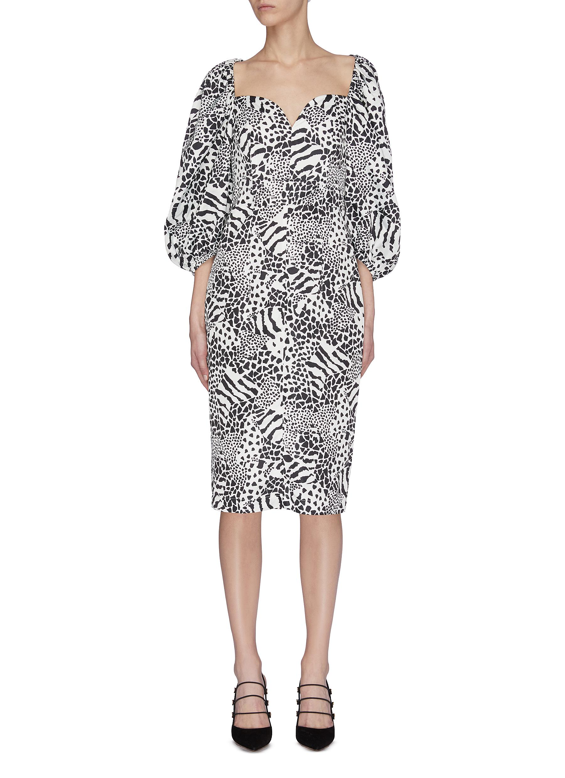 Buy Rotate Dresses 'Irina' graphic print dress