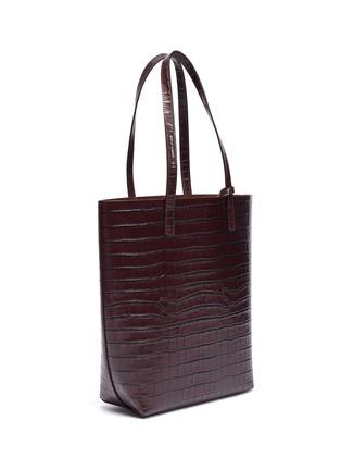 Detail View - Click To Enlarge - MANSUR GAVRIEL - Croc embossed leather tote bag