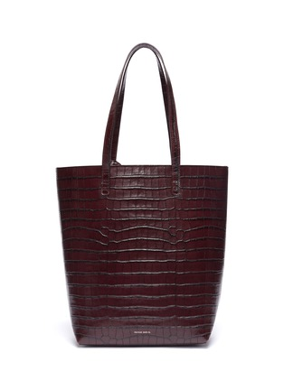 Main View - Click To Enlarge - MANSUR GAVRIEL - Croc embossed leather tote bag