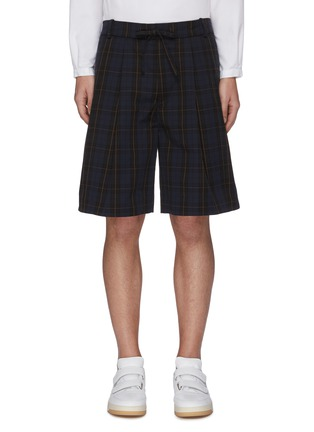 Main View - Click To Enlarge - FFIXXED STUDIOS - Drawstring waist check plaid shorts