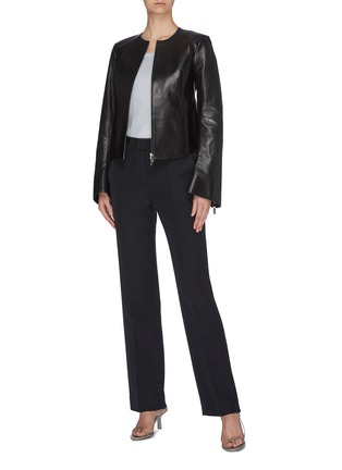 Figure View - Click To Enlarge - THE ROW - 'Saori' leather jacket