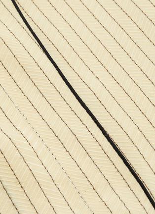 - THE ROW - 'Malka' foldover collar contrast edge herringbone print dress