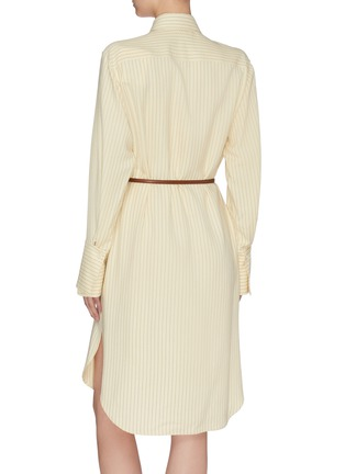 Back View - Click To Enlarge - THE ROW - 'Sonia' belted herringbone print shirt dress