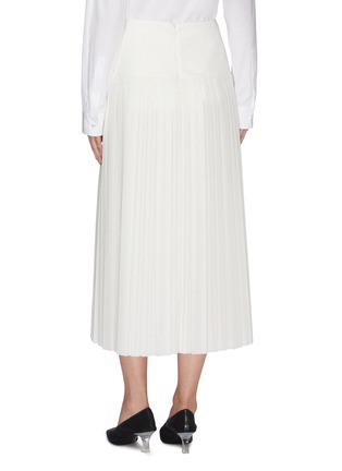 Back View - Click To Enlarge - THE ROW - 'Magdita' extended waistband pleated georgette skirt