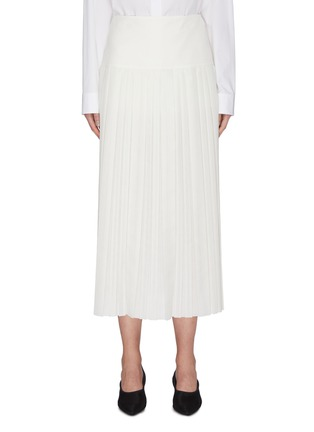 Main View - Click To Enlarge - THE ROW - 'Magdita' extended waistband pleated georgette skirt