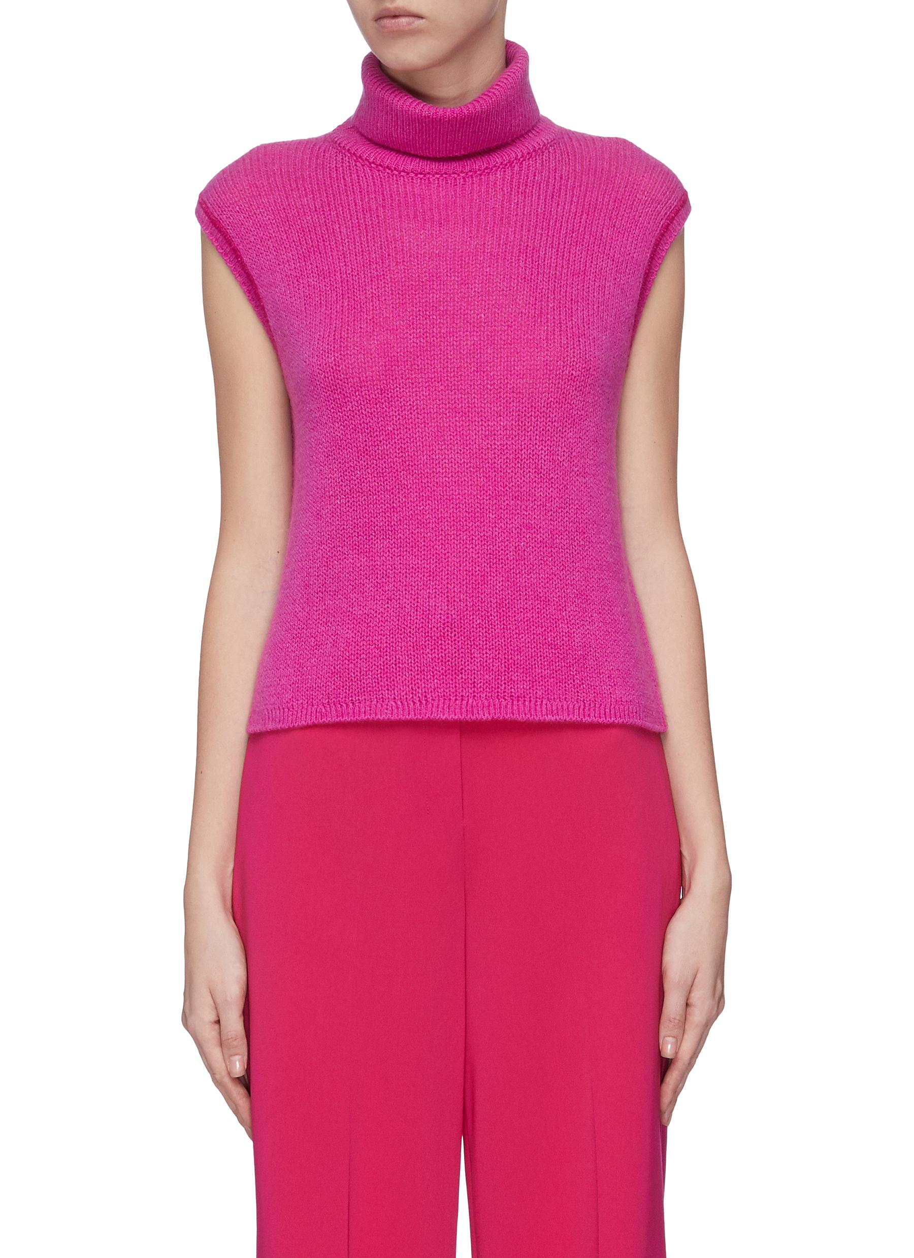 shop The Row 'Giselle' turtleneck sleeveless cashmere top online