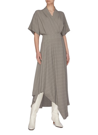 Figure View - Click To Enlarge - THE ROW - 'Talisa' asymmetric hem crepe dress