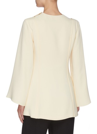 Back View - Click To Enlarge - THE ROW - 'Polina' gathered panel silk crepe top