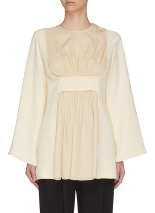 Main View - Click To Enlarge - THE ROW - 'Polina' gathered panel silk crepe top