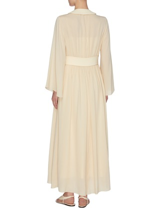 Back View - Click To Enlarge - THE ROW - 'Smith' gathered panel silk crepe dress