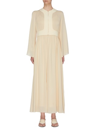 Main View - Click To Enlarge - THE ROW - 'Smith' gathered panel silk crepe dress