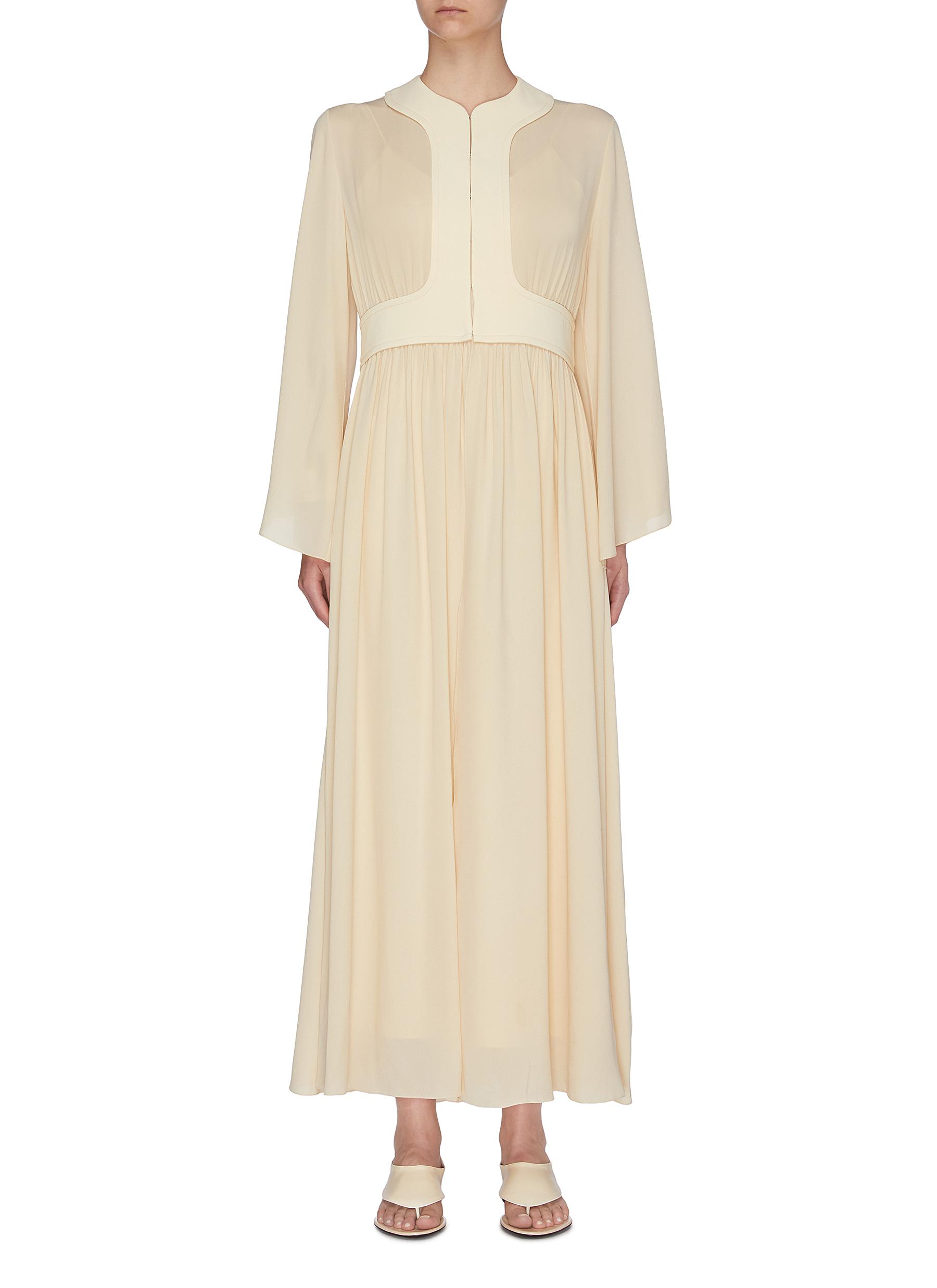 shop The Row 'Smith' gathered panel silk crepe dress online
