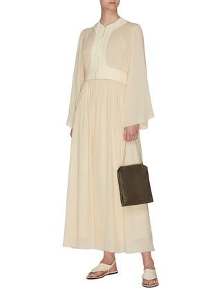 Figure View - Click To Enlarge - THE ROW - 'Smith' gathered panel silk crepe dress