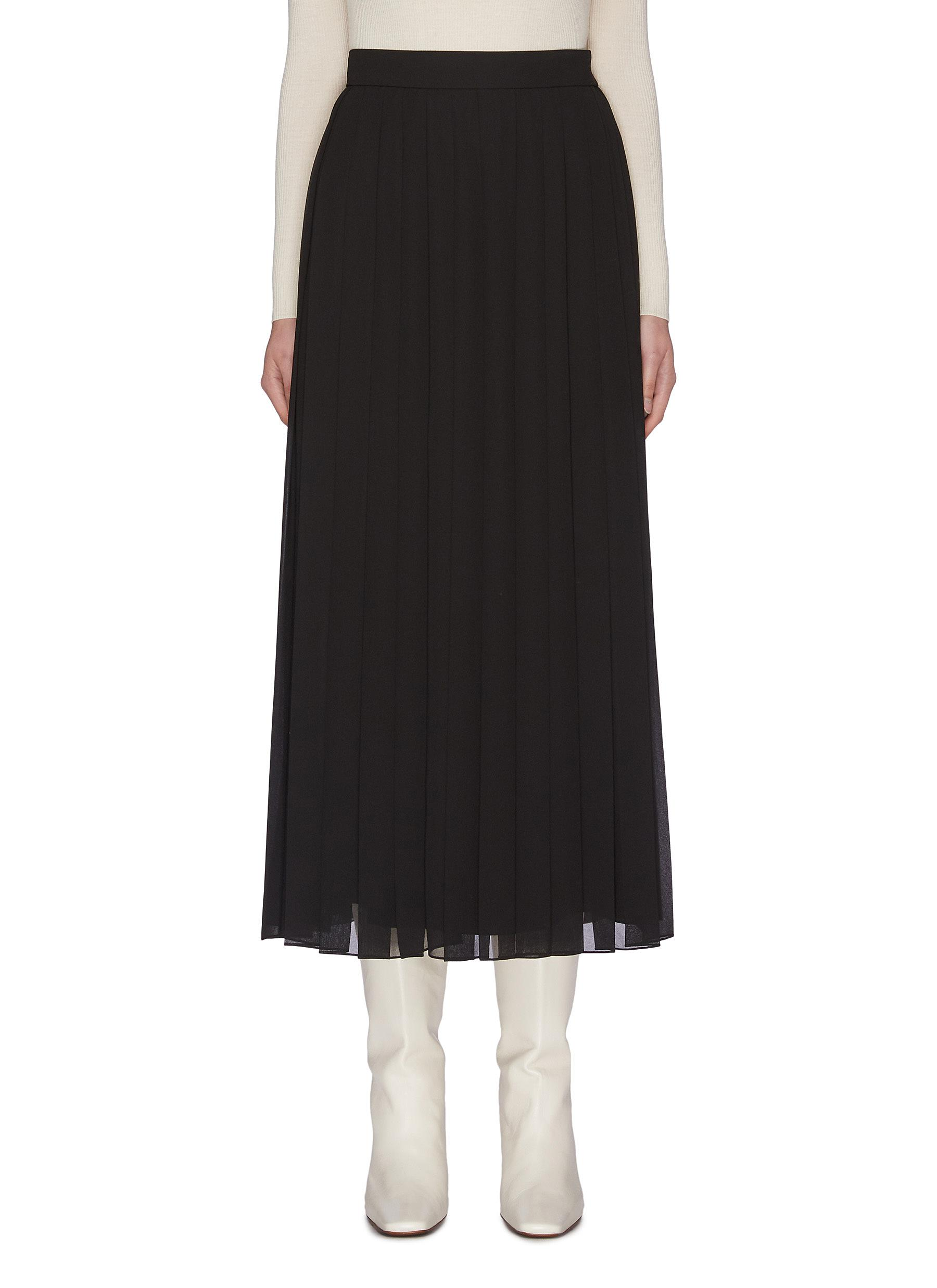 Buy The Row Skirts 'Magda' pleated georgette midi skirt