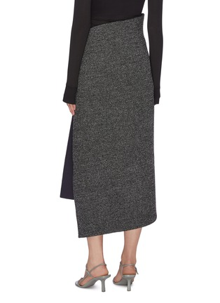 Back View - Click To Enlarge - THE ROW - 'Verna' asymmetric foldover button front midi skirt