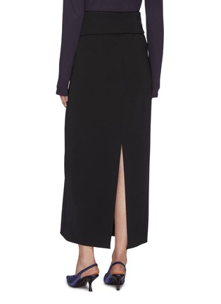 Back View - Click To Enlarge - THE ROW - 'Pillar' foldover button front midi skirt