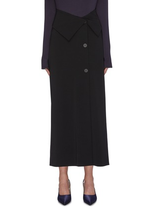 Main View - Click To Enlarge - THE ROW - 'Pillar' foldover button front midi skirt