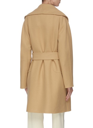 Back View - Click To Enlarge - THE ROW - 'Maddy' shawl collar belted wrap coat