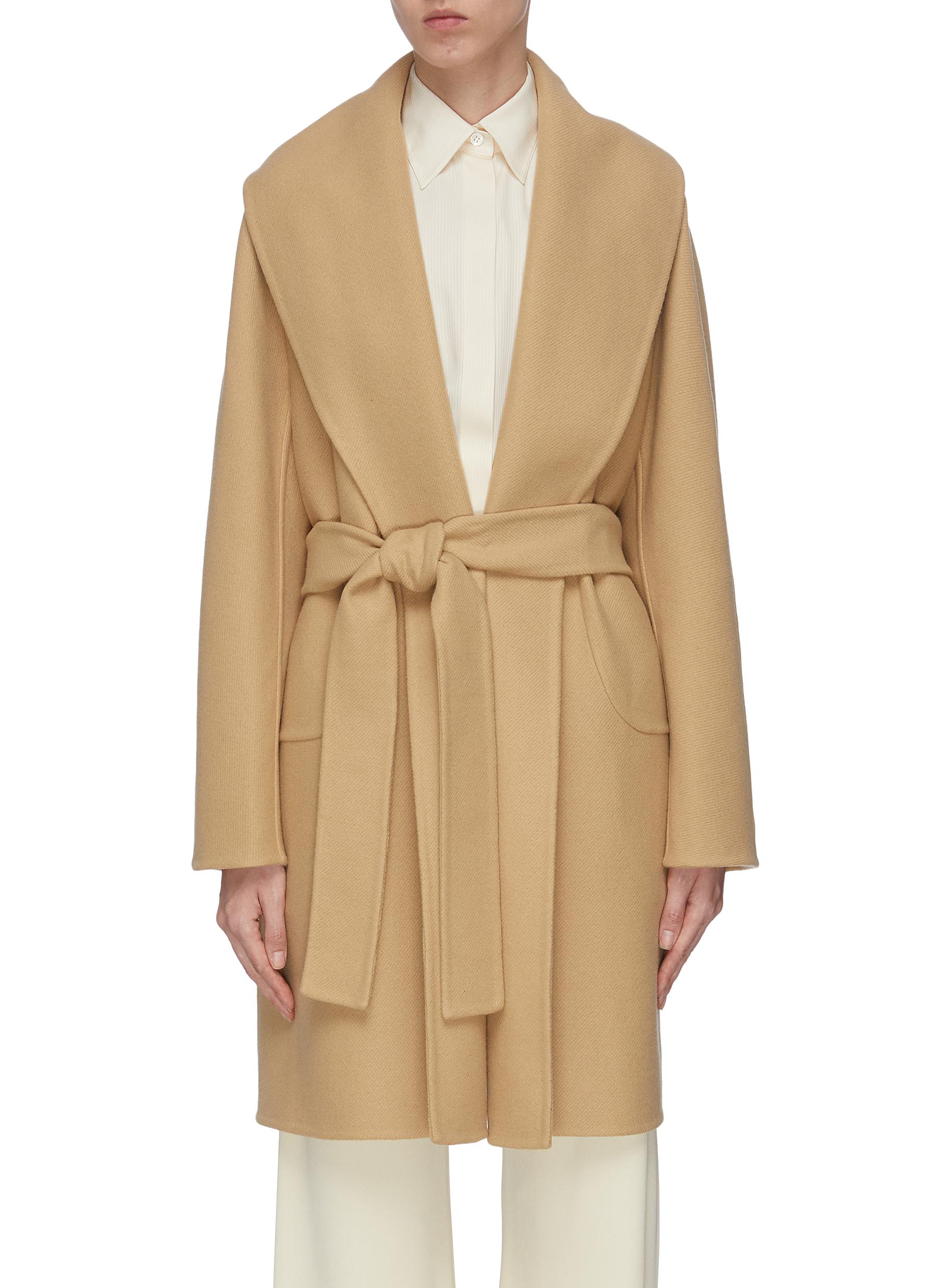 shop The Row 'Maddy' shawl collar belted wrap coat online