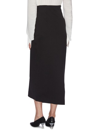 Back View - Click To Enlarge - THE ROW - 'Ogechi' foldover D-ring wrap midi skirt