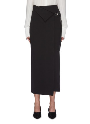 Main View - Click To Enlarge - THE ROW - 'Ogechi' foldover D-ring wrap midi skirt