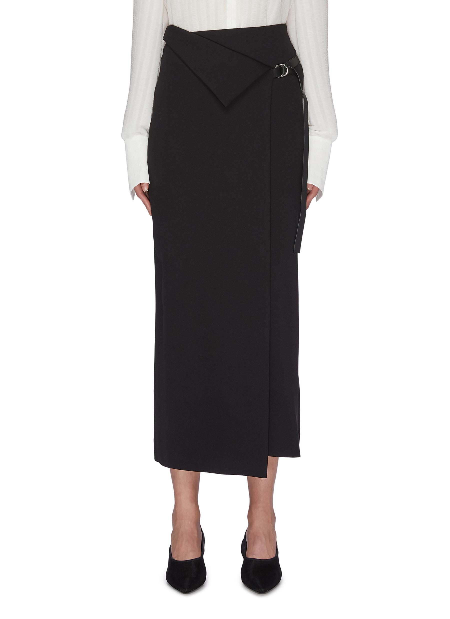 Buy The Row Skirts 'Ogechi' foldover D-ring wrap midi skirt