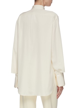 Back View - Click To Enlarge - THE ROW - 'Cody' enlarged cuff silk shirt