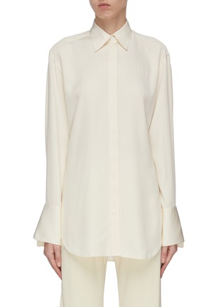 Main View - Click To Enlarge - THE ROW - 'Cody' enlarged cuff silk shirt