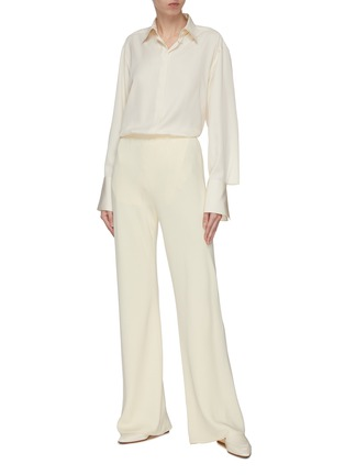Figure View - Click To Enlarge - THE ROW - 'Cody' enlarged cuff silk shirt