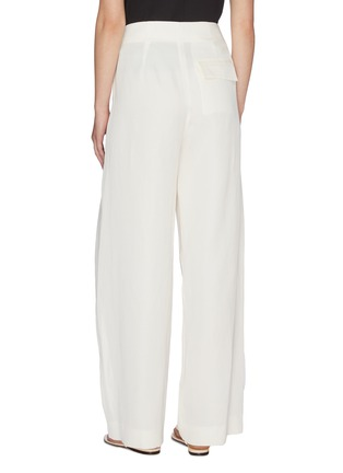 Back View - Click To Enlarge - THE ROW - Brona' belted silk-linen wide leg pants