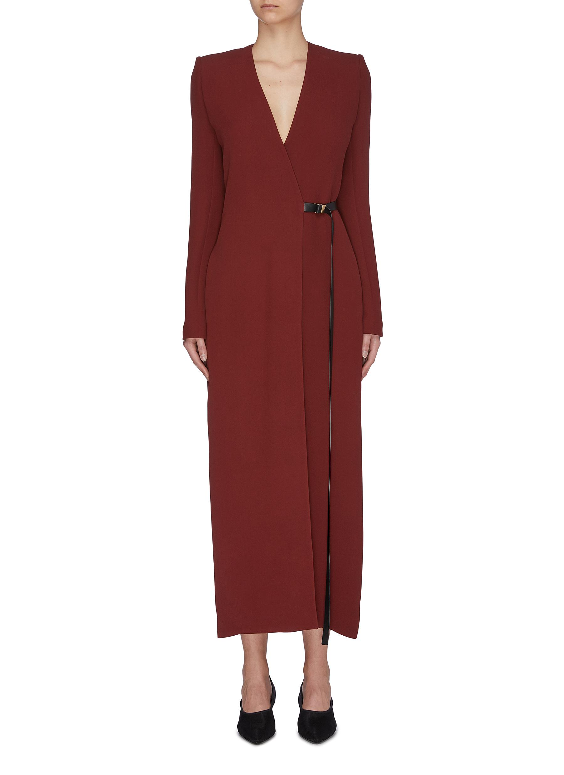 shop The Row 'Vana' belted silk cady wrap dress online
