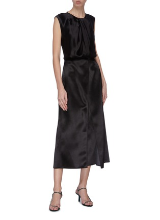 Figure View - Click To Enlarge - THE ROW - Handkerchief fold hammered dress