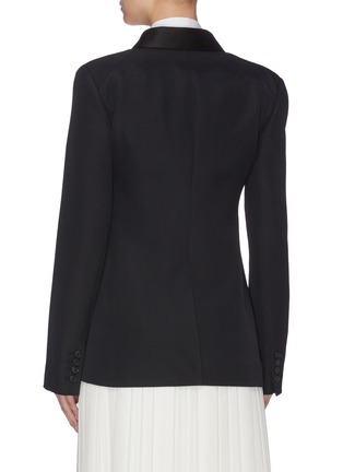 Back View - Click To Enlarge - THE ROW - 'Zori' peaked lapel double breasted wool-silk blazer