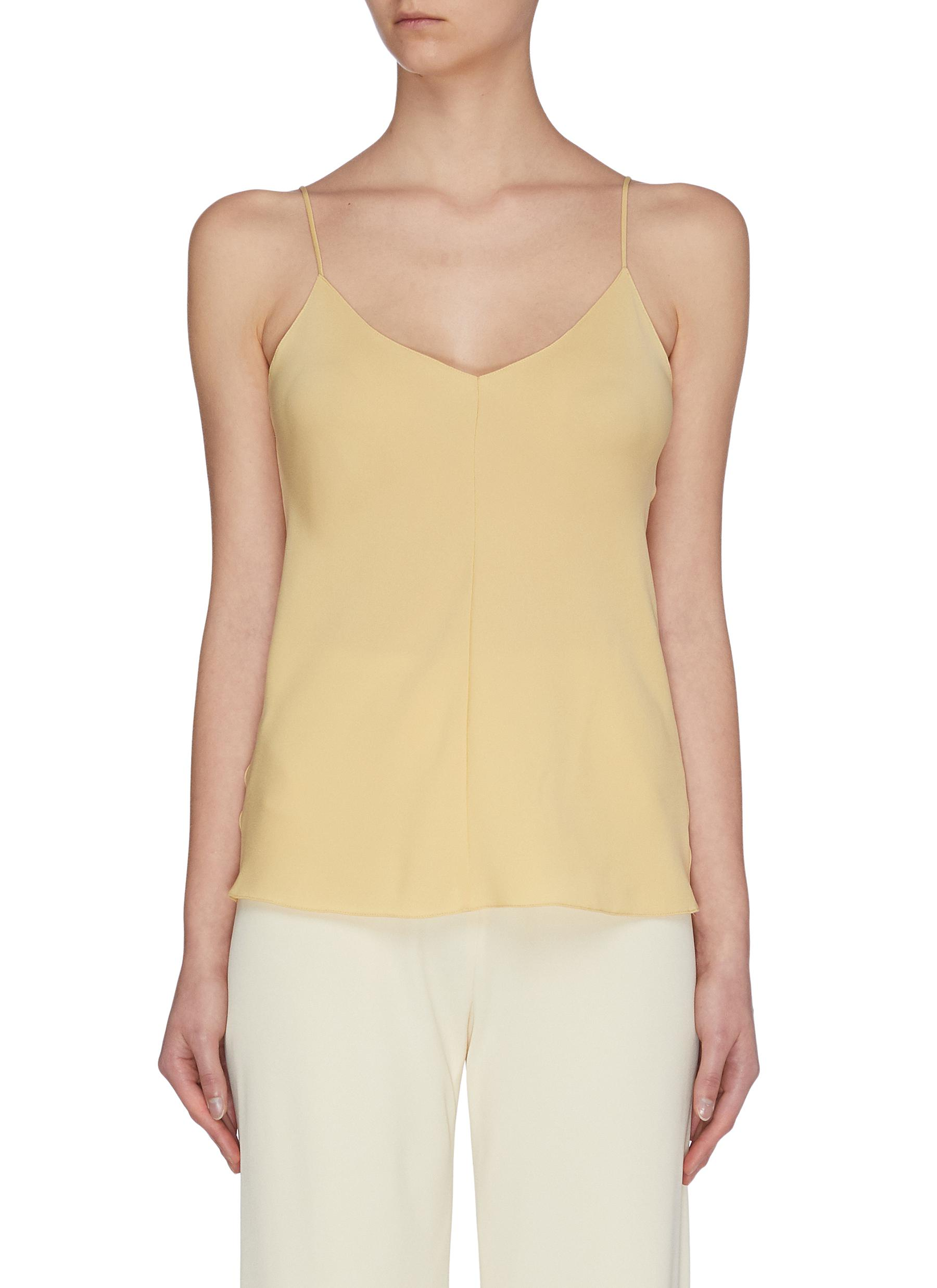 Buy The Row Tops 'Eda' silk georgette V-neck camisole top