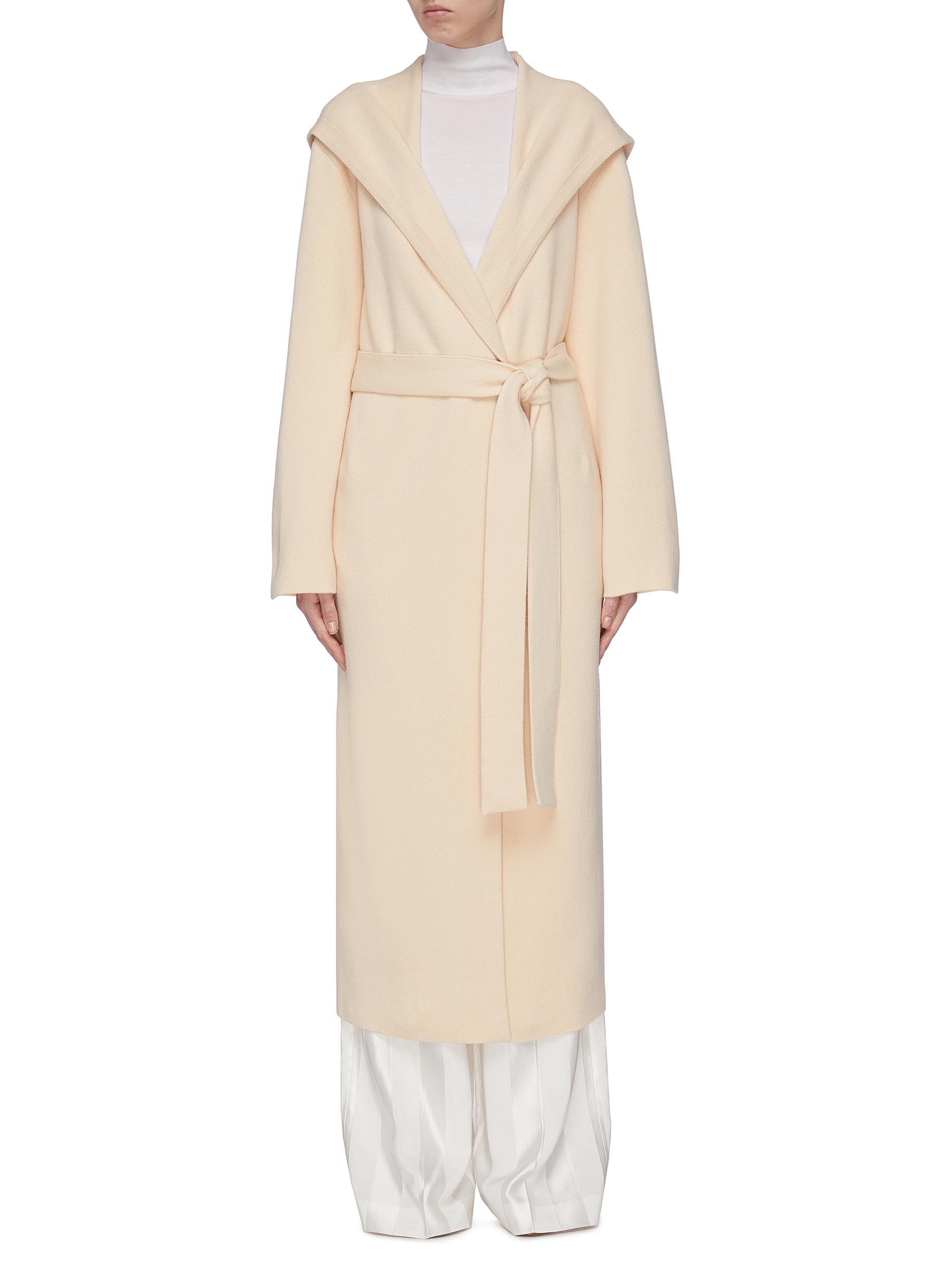 shop The Row 'Eliona' felted wool-cashmere long wrap coat online