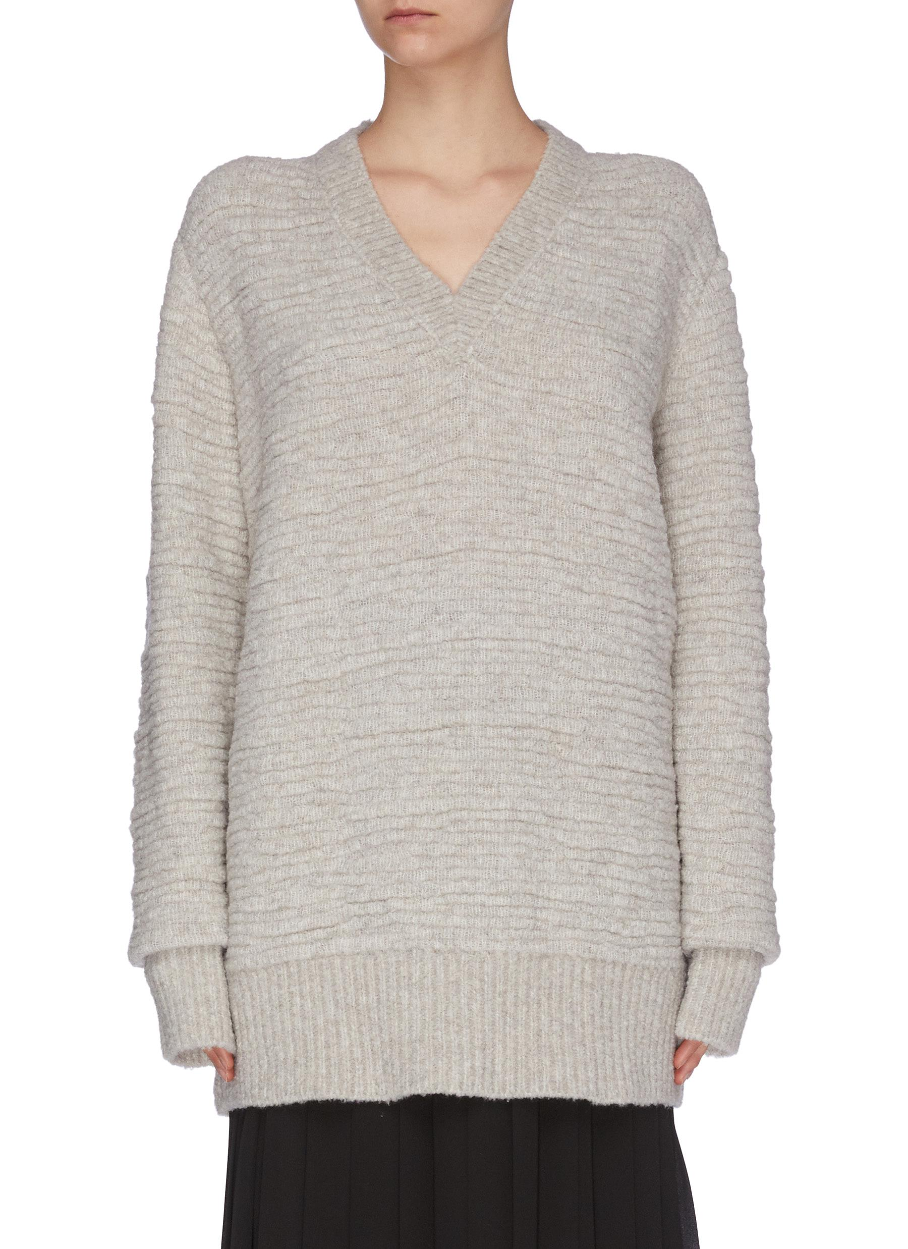 Buy The Row Knitwear 'Elaine' bouclé V-neck sweater