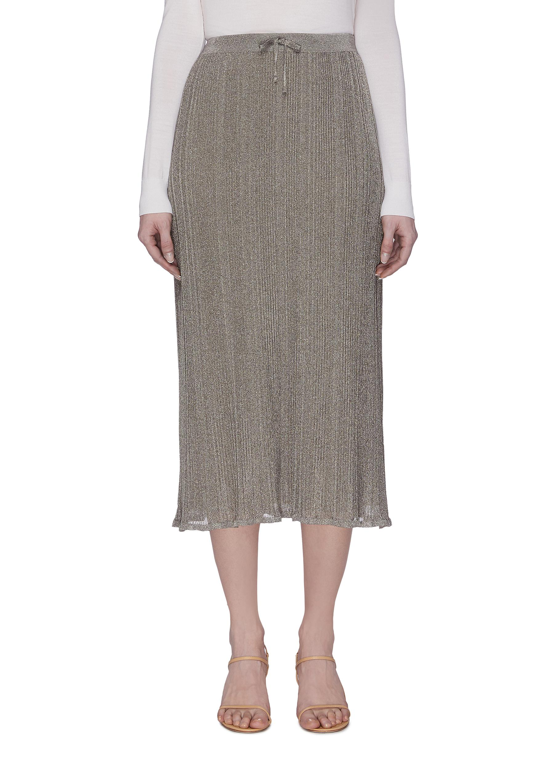 Buy The Row Skirts 'Marin' Sheer Metallic Maxi Skirt