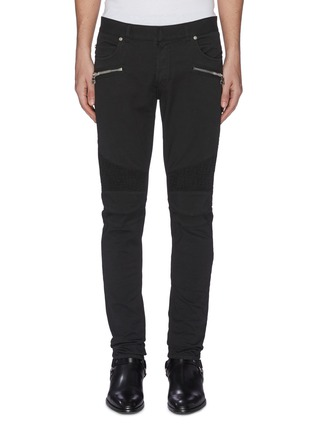 Main View - Click To Enlarge - BALMAIN - Rib panel jeans