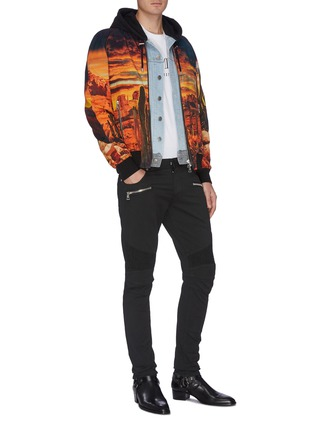 Figure View - Click To Enlarge - BALMAIN - Rib panel jeans
