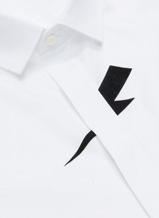 - NEIL BARRETT - Thunderbolt print poplin shirt