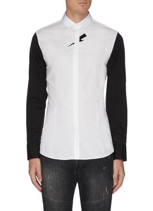 Main View - Click To Enlarge - NEIL BARRETT - Thunderbolt print poplin shirt