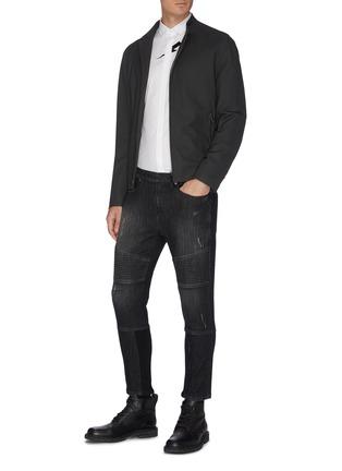 Figure View - Click To Enlarge - NEIL BARRETT - Thunderbolt print poplin shirt