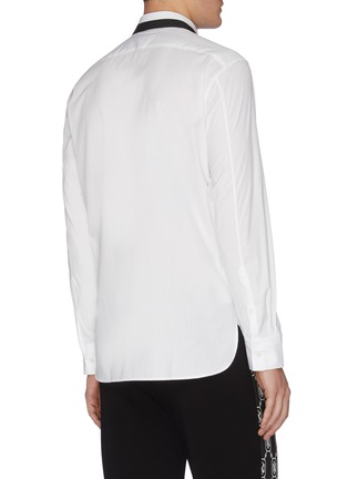 Back View - Click To Enlarge - NEIL BARRETT - Thunderbolt print collar poplin shirt