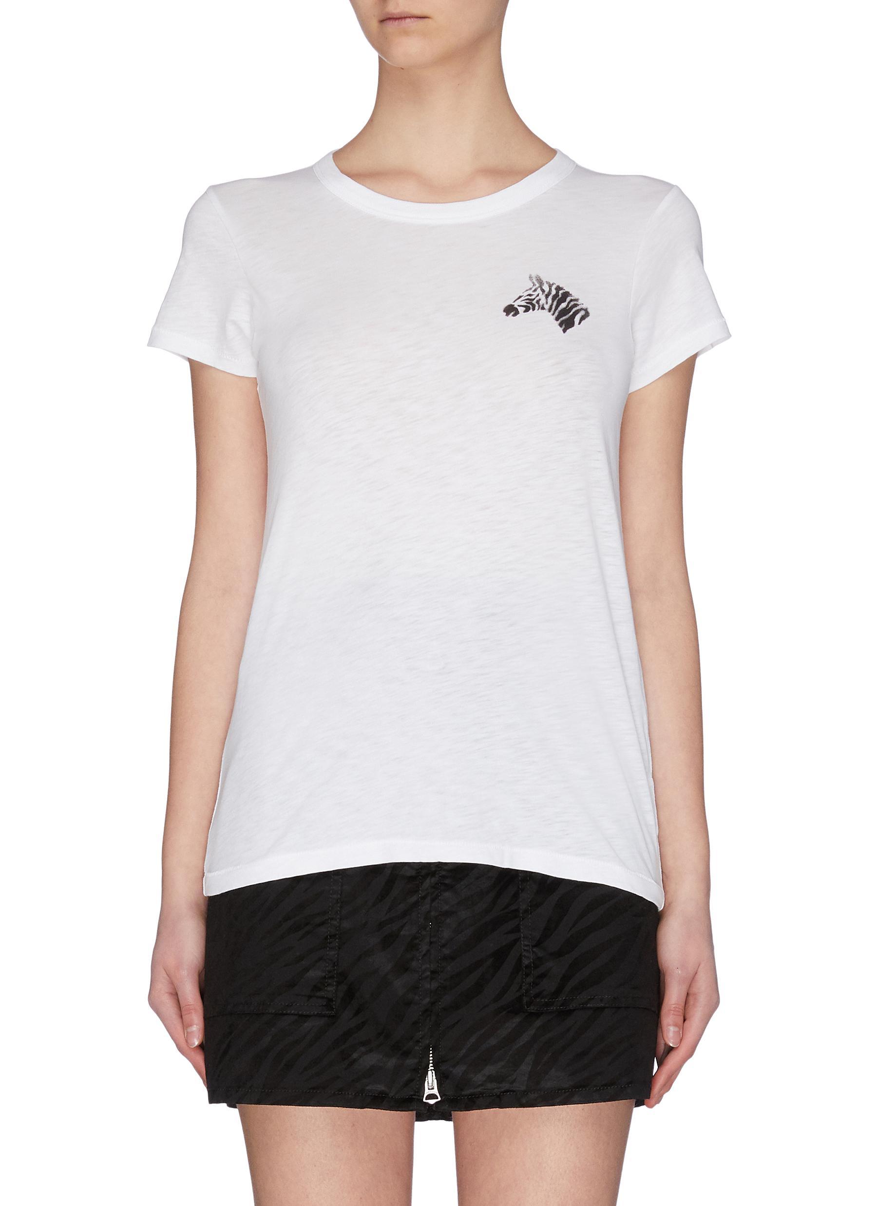 Buy Rag & Bone/Jean Tops Zebra print T-shirt