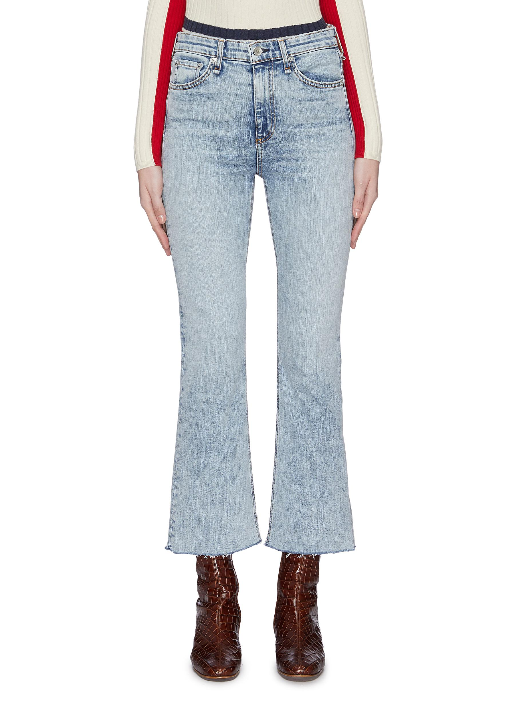 shop Rag & Bone/Jean 'Nina' flared jeans online