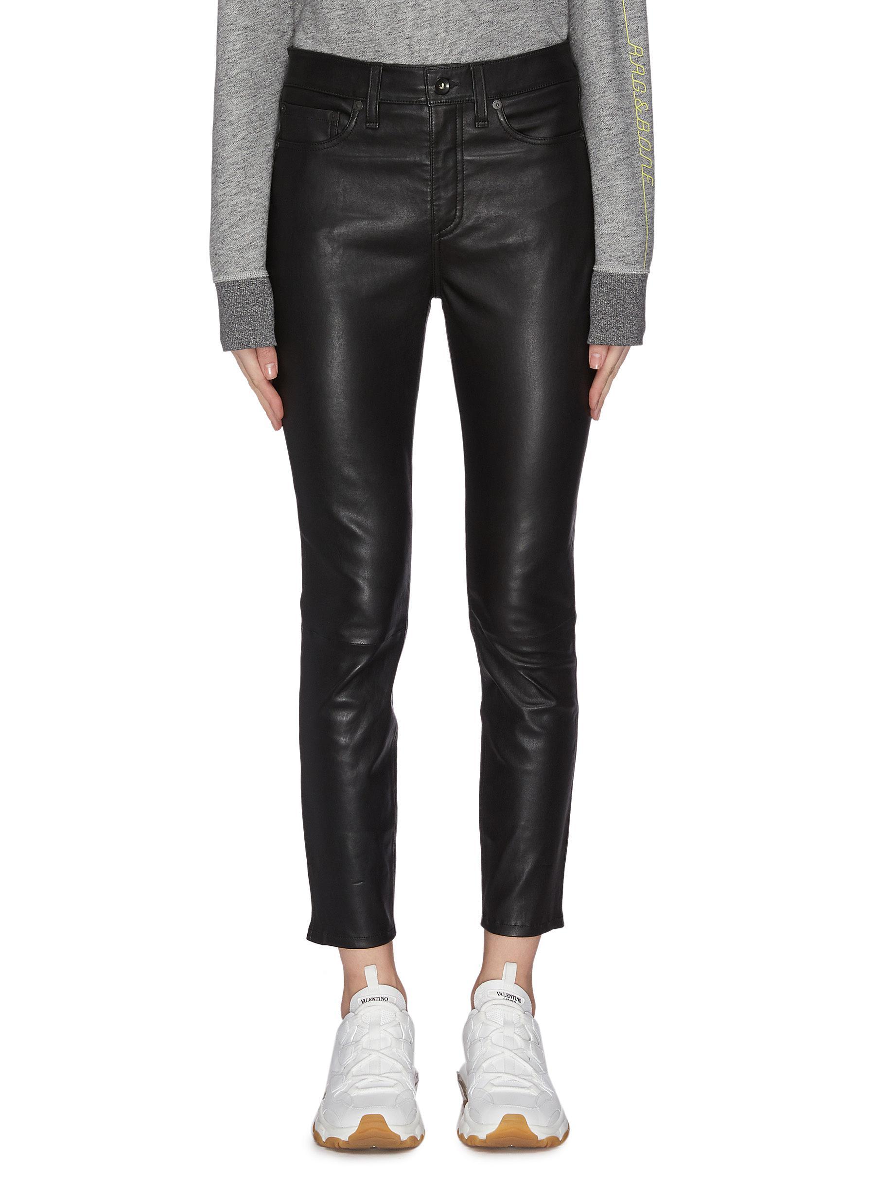 shop Rag & Bone/Jean 'Nina' leather skinny pants online