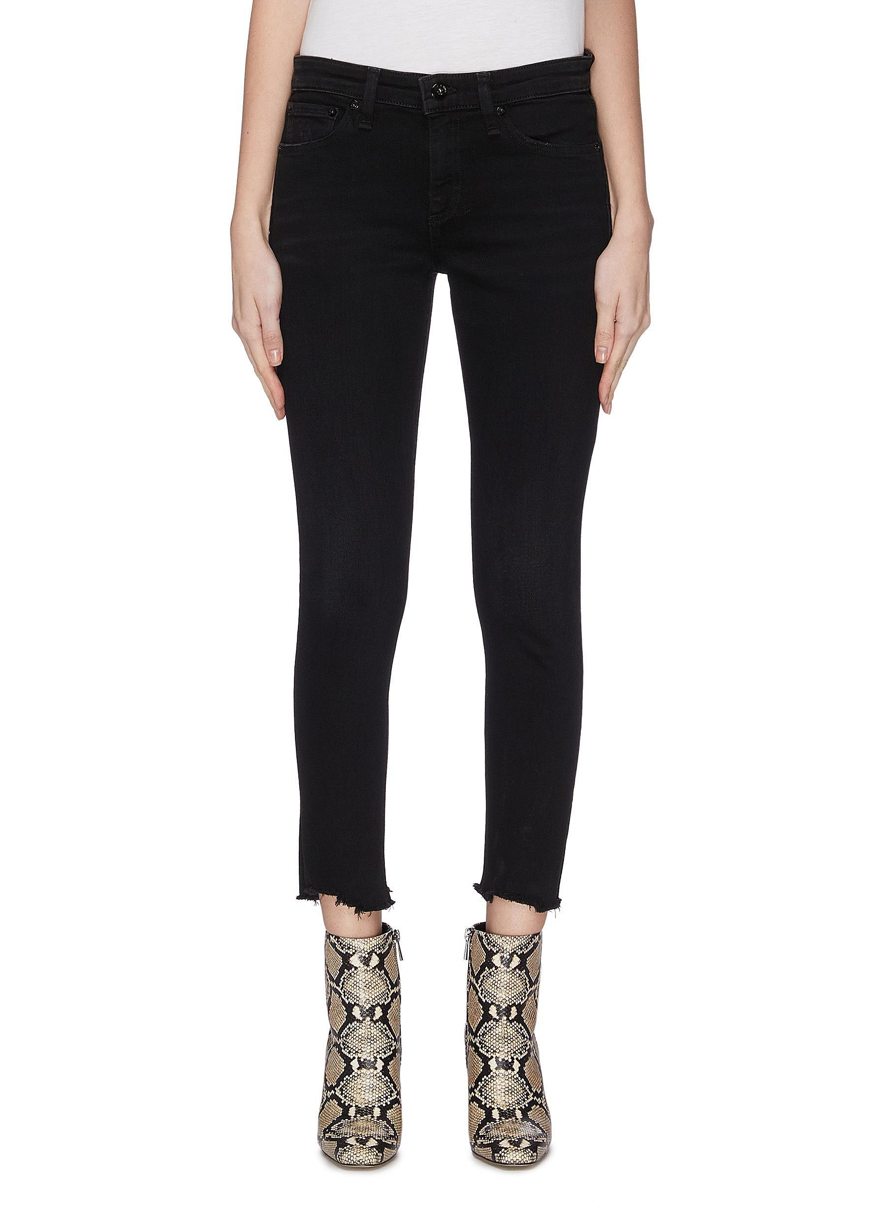 Buy Rag & Bone/Jean Jeans 'Cate' raw edge ankle skinny jeans