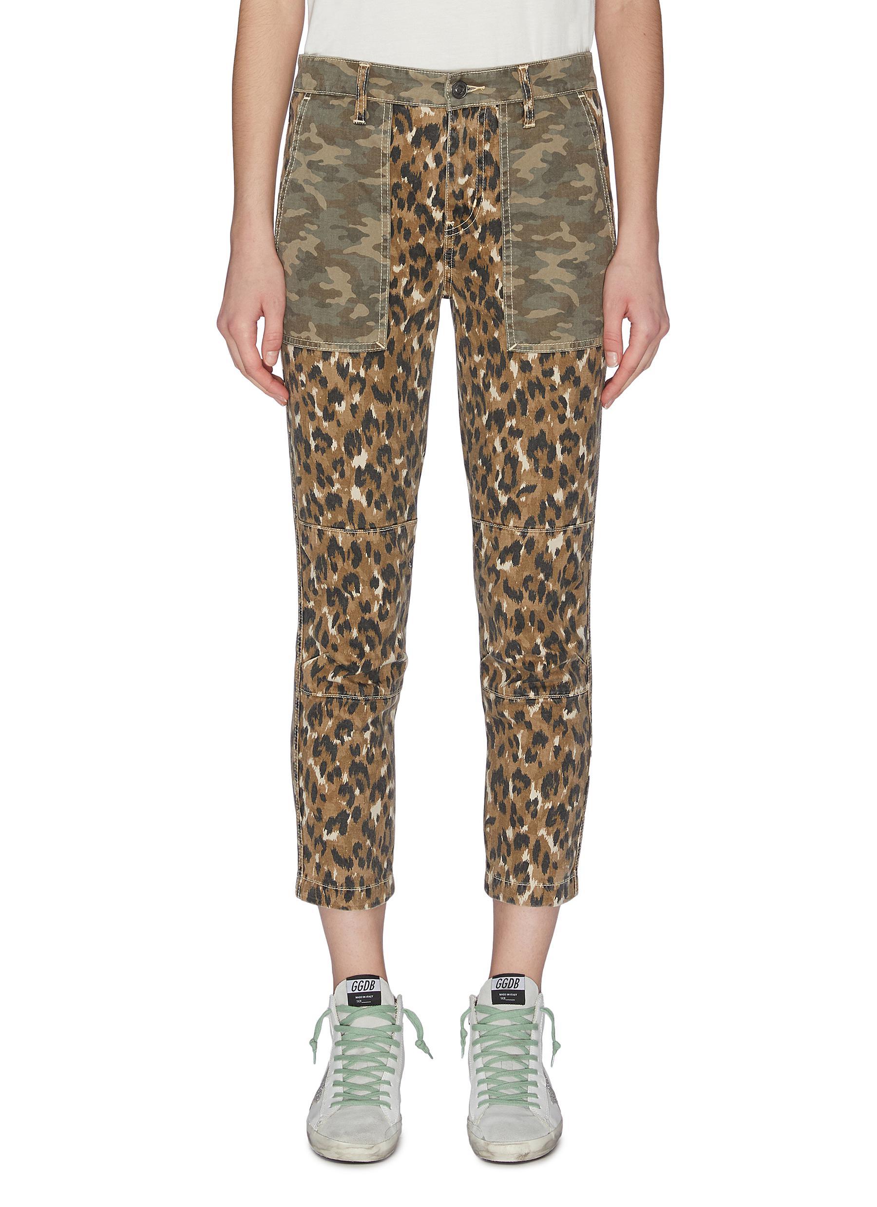 Buy Current/Elliott Jeans 'The Clean Weslan' Leopard Print Pants