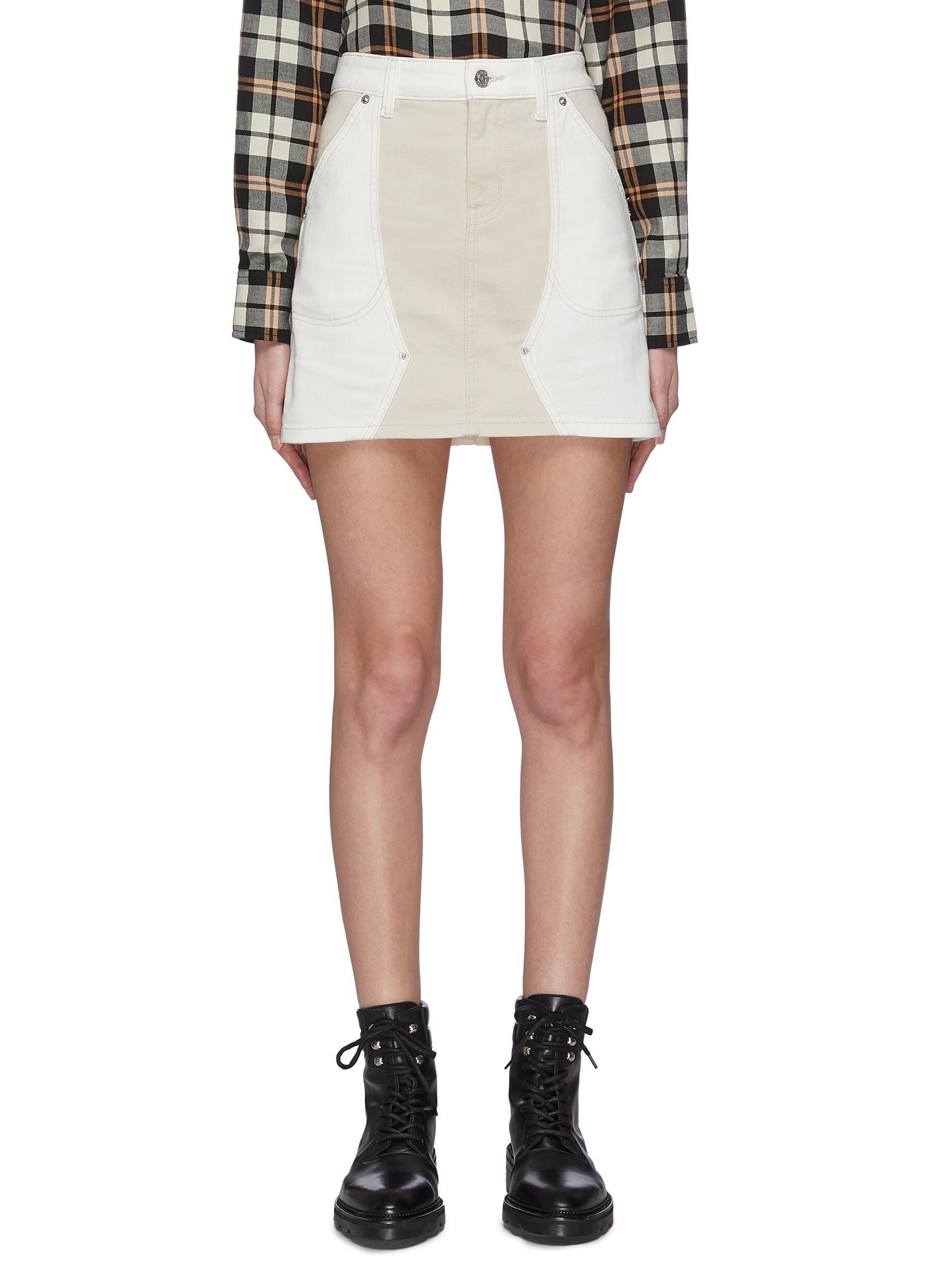 shop Current/Elliott 'The Agatha' panelled mini skirt online