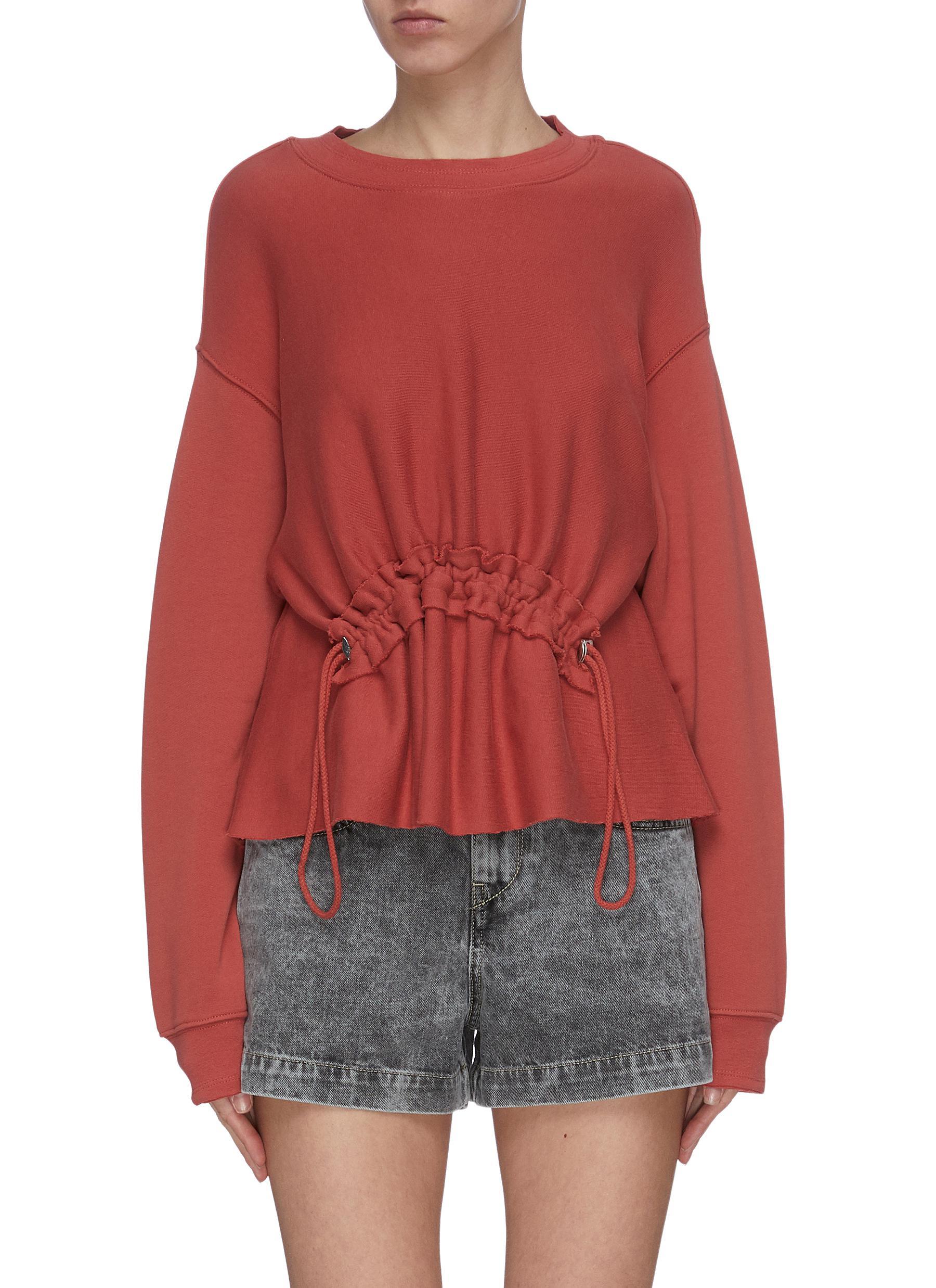 Buy Current/Elliott Tops 'Bloom' drawstring detail raglan sweatshirt